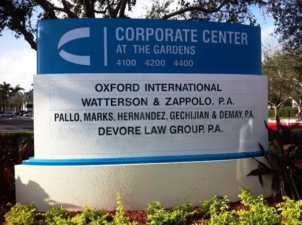 Corporate Center Freestanding sign