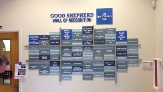 Interior Signage - Good Shepherd Wall of recognition