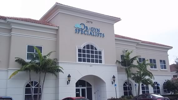 Ob Gyn Specialists Palm Beach - freestanding signage